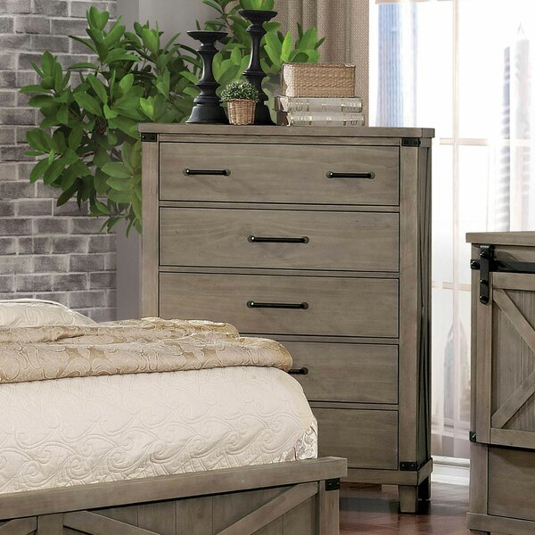 Grecia 5 Drawer Chest by Three Posts