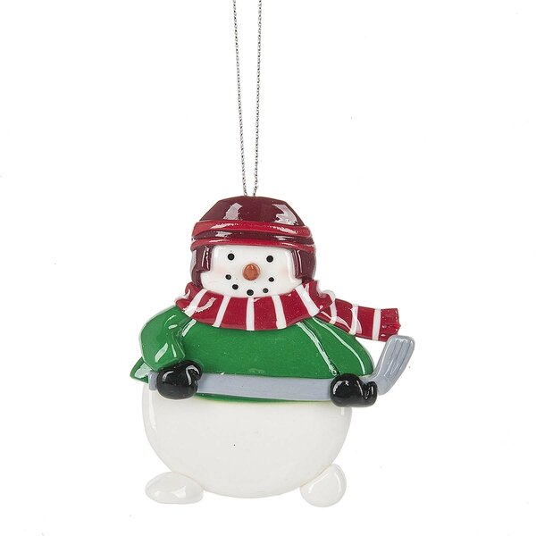 Hockey Snowman Hanging Figurine by The Holiday Ais