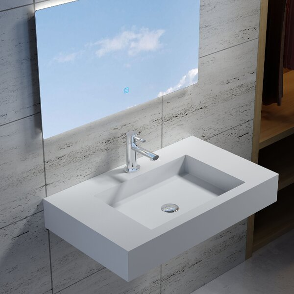 Rectangular Stone 39 Wall Mount Bathroom Sink by InFurniture