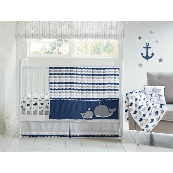 Vavra Nantucket Dreaming 4 Piece Crib Set (Set of 4) by Harriet Bee