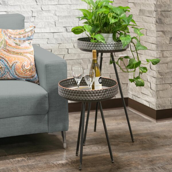 Hadlee Round 2 Piece Tables by Bungalow Rose