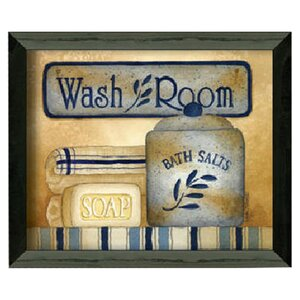 'Wash Room' Framed Graphic Art by August Grove