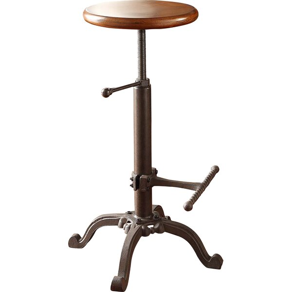 Adjustable Height Swivel Bar Stool by Carolina Cottage