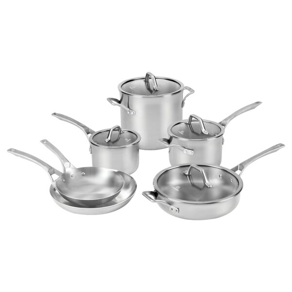 Calphalon Signature™ Stainless Steel 10 Piece Cookware Set by Calphalon