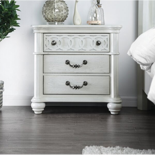Aubrie 3 Drawer Nightstand by Rosdorf Park