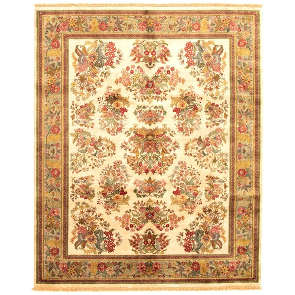 Granberry Hand Knotted Wool Ivory/Brown Rug