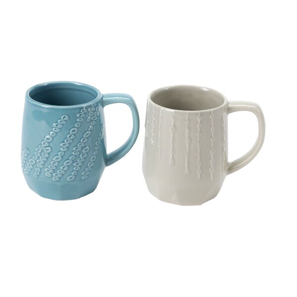 Geo Patterned Mugs Set by Hallmark Home & Gifts