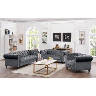 Keyla 3 Piece Living Room Set by House of Hampton®