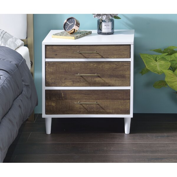 Brimmer 3 Drawer Nightstand by George Oliver