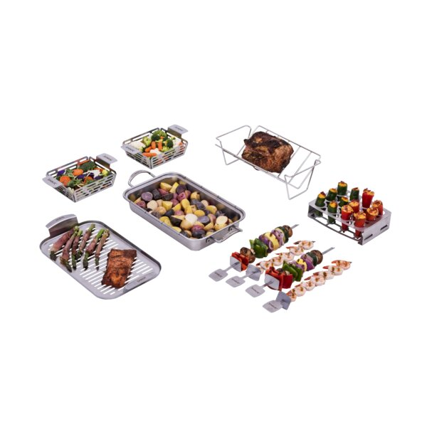 11 Piece Grill Rack Set by Saber