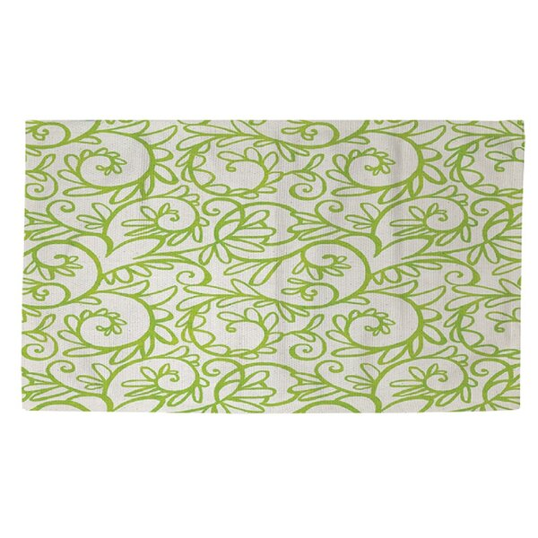 Bauch Pattern White Area Rug by Ebern Designs