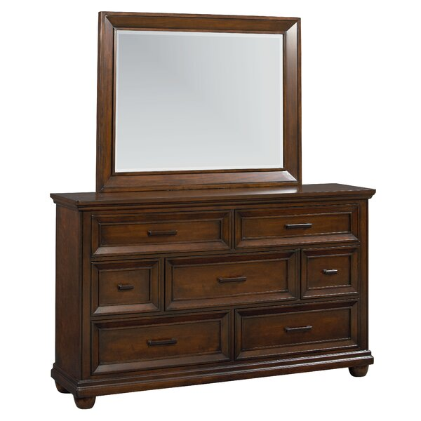 Ponca 7 Drawer Dresser with Mirror by Charlton Home