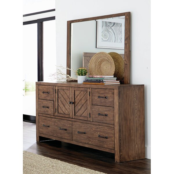 Pasha 6 Drawer Double Dresser with Mirror by Union Rustic