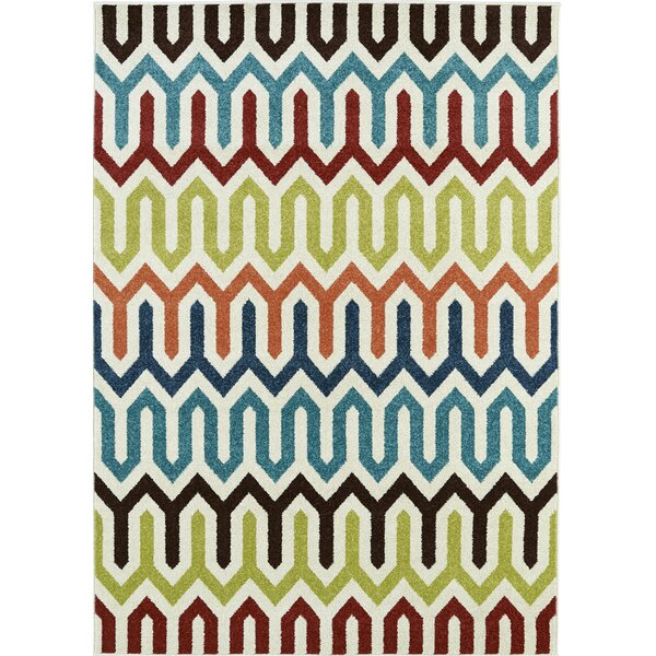Lifestyles Larado Ivory Indoor/Outdoor Area Rug by Mayberry Rug