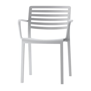 Check Prices Carpentier Stacking Patio Dining Chair (Set of 2) by Mercury Row