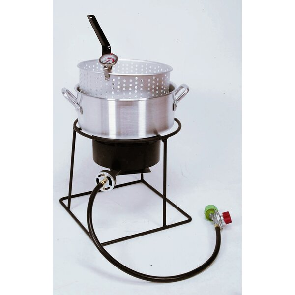 Welded Outdoor Fish Fryer Package With 10 Quart Deep Fryer by King Kooker