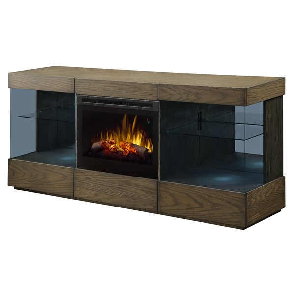 Axel 70 TV Stand with Electric Fireplace by Dimplex