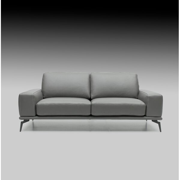#2 Micky Leather Sofa By Brayden Studio Wonderful