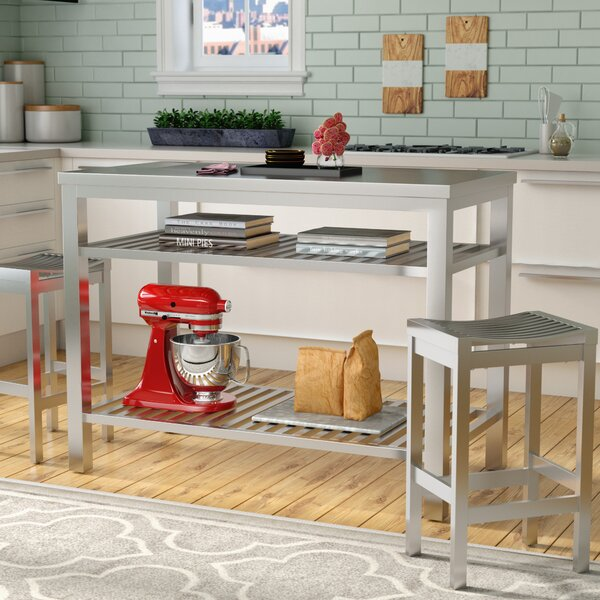 Sione 3 Piece Kitchen Island Set by Everly Quinn