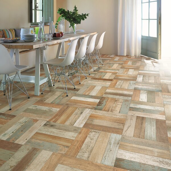 Royalty 17.63 x 17.63 Ceramic Wood Look Tile in Brown/Beige by EliteTile