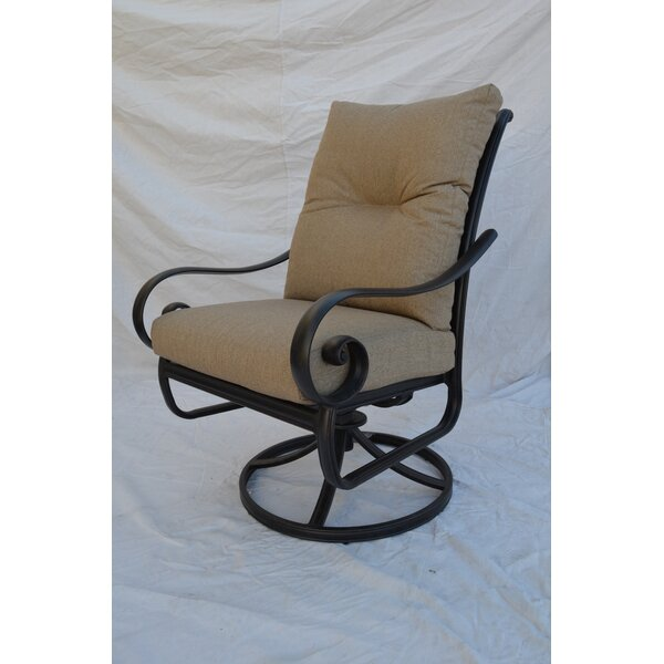 Santa Anita Swivel Patio Dining Chair with Cushion by K&B Patio