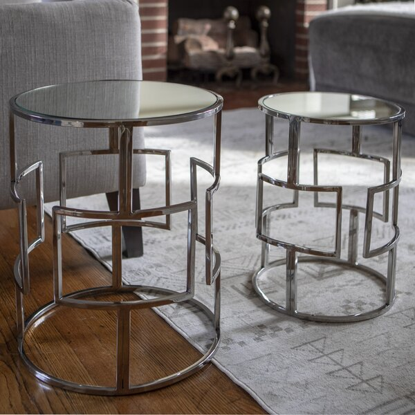 Magness Stainless Steel Mirrored 2 Piece Nesting Tables By Orren Ellis
