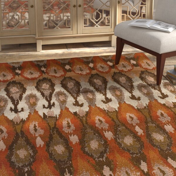 Tiana Brown/Orange Indoor/Outdoor Area Rug  by Bloomsbury Market