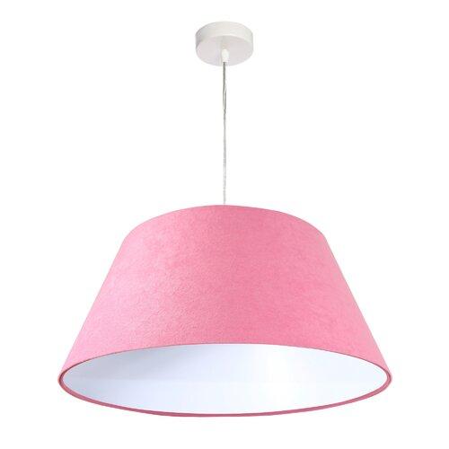 Kegel-Pendelleuchte 1-flammig Parnell Sansibar Home Schirmfarbe: Rosa/Weiß   Lampen > Deckenleuchten > Pendelleuchten   Sansibar Home