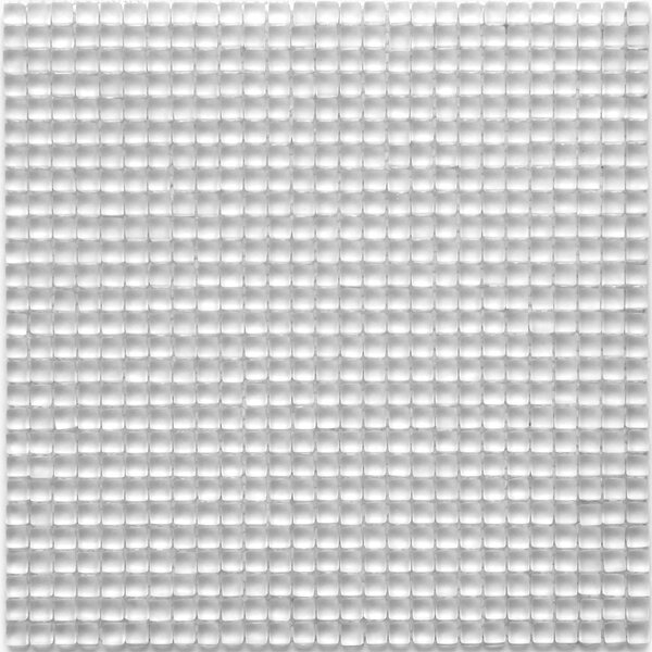 Atlantis 0.25 x 0.25 Glass Mosaic Tile in Anemone White by Solistone