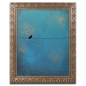 'Lone Bird' by Nicole Dietz Framed Painting Print by Trademark Fine Art