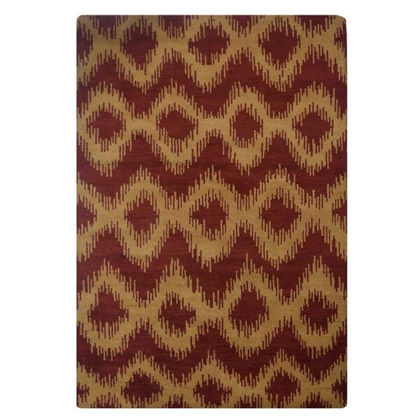 Utterback Hand-Woven Wool Orange/Red Area Rug by Latitude Run