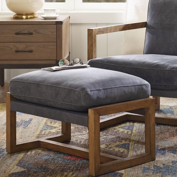 Durham Leather Ottoman by Harbor House