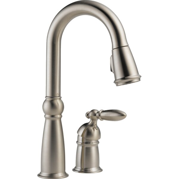 Victorian Pull Down Single Handle Kitchen Faucet with Diamond Seal Technology by Delta