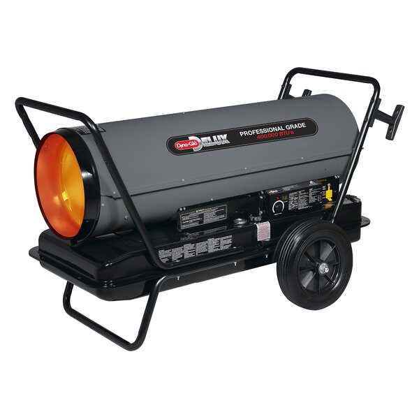 400,000 BTU Portable Kerosene Forced Air Utility Heater with Built in Diagnostic and Flat-Free Wheels by Dyna-Glo