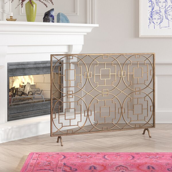 Pleasant Rockwell Single Panel Fireplace Screen By Bungalow Rose Home Interior And Landscaping Ologienasavecom