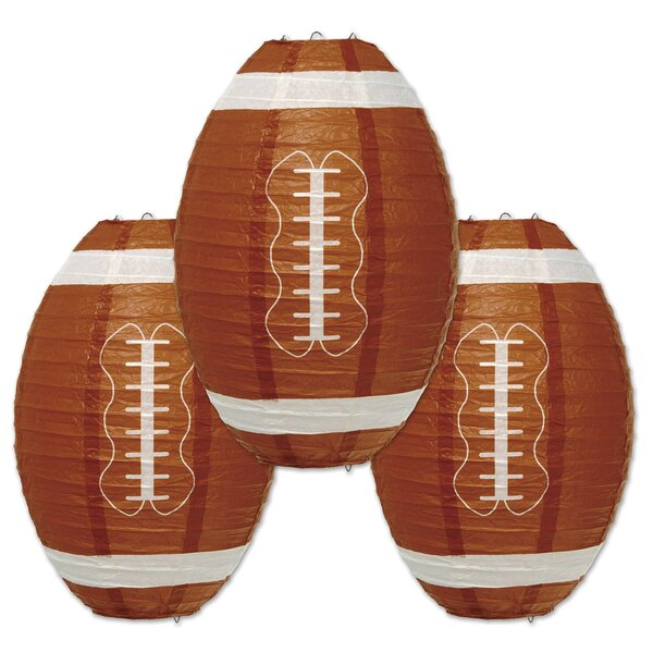 Fresquez Football Paper Lantern Lamp (Set of 6) by The Holiday Aisle