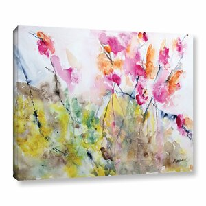 Summer Pink by Karin Johannesson Painting Print on Wrapped Canvas by ArtWall