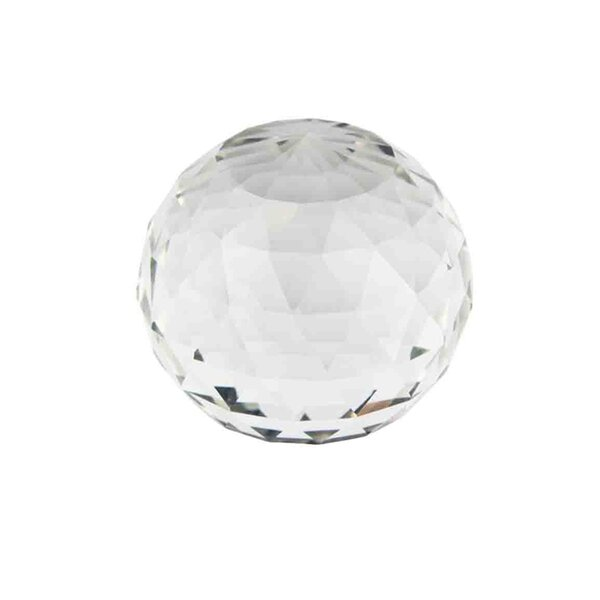 Karlin Decorative Glass Faceted Orb Sculpture by Mercer41