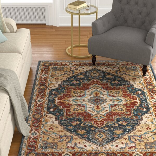 Piccirillo Brown/Teal Area Rug by Astoria Grand