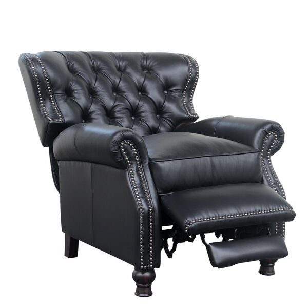 Keleigh Leather Manual Recliner by Darby Home Co