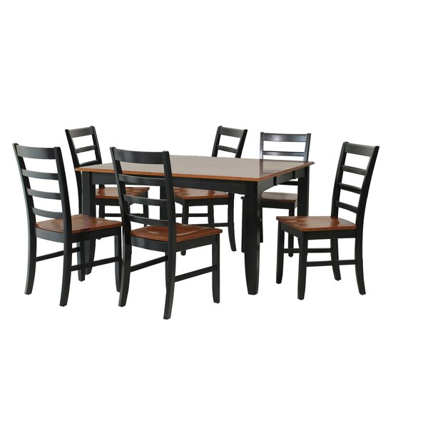 Wabasca 7 Piece Solid Wood Dining Set by TTP Furnish