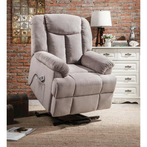 Mulvaney Upholstered Power Lift Assist Recliner by Red Barrel Studio