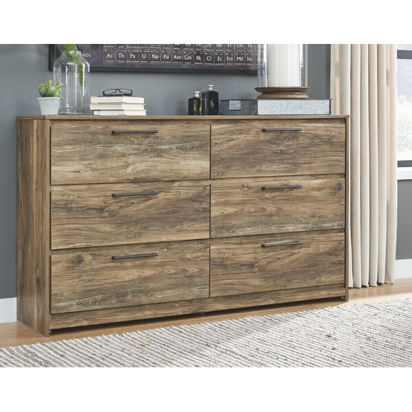 Fairfield 6 Drawer Double Dresser by Foundry Select