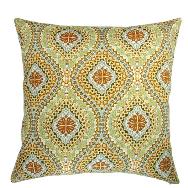Beare Spanish Medallion Print Indoor/Outdoor Pillow by Bloomsbury Market
