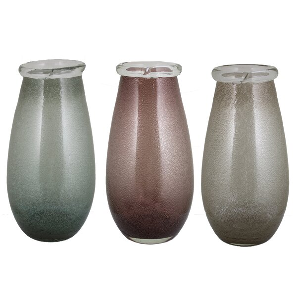 Wyckoff Hand Blown Glass Table Vase (Set of 3) by Alcott Hill