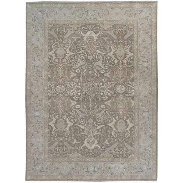 One-of-a-Kind Hand-Knotted Gray 8'9 x 11'11 Area Rug