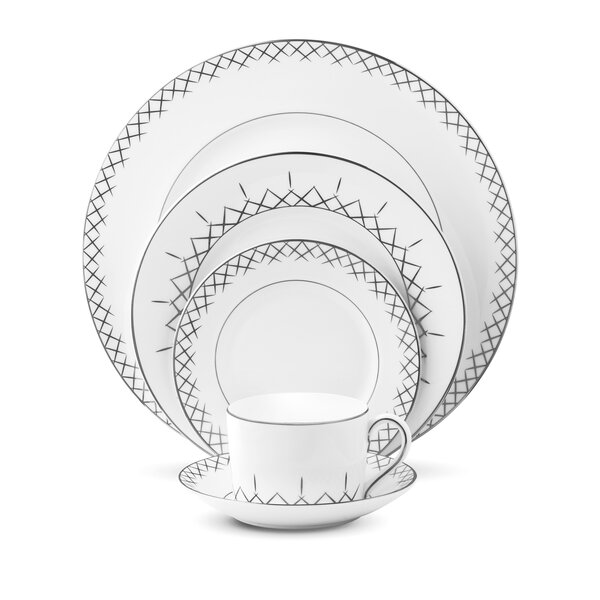 Lismore Pops Bone China 5 Piece Place Setting, Service for 1 by Waterford