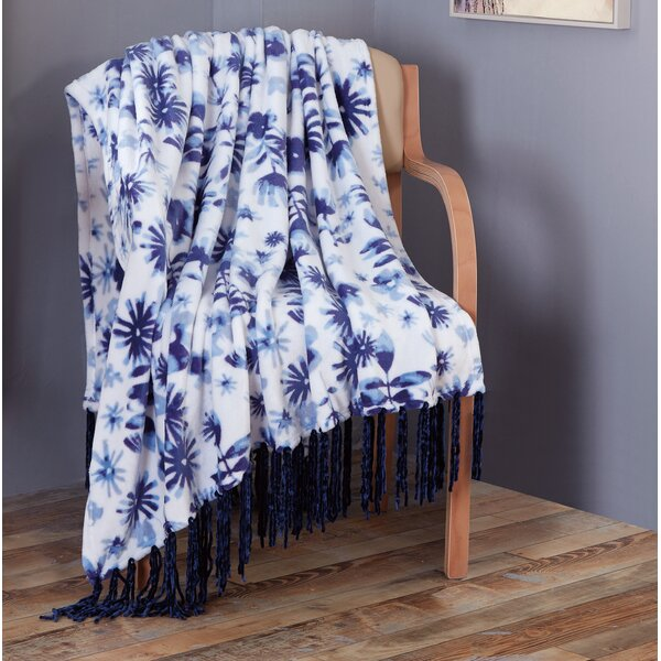 Hagen Printed Flannel Throw by Ebern Designs