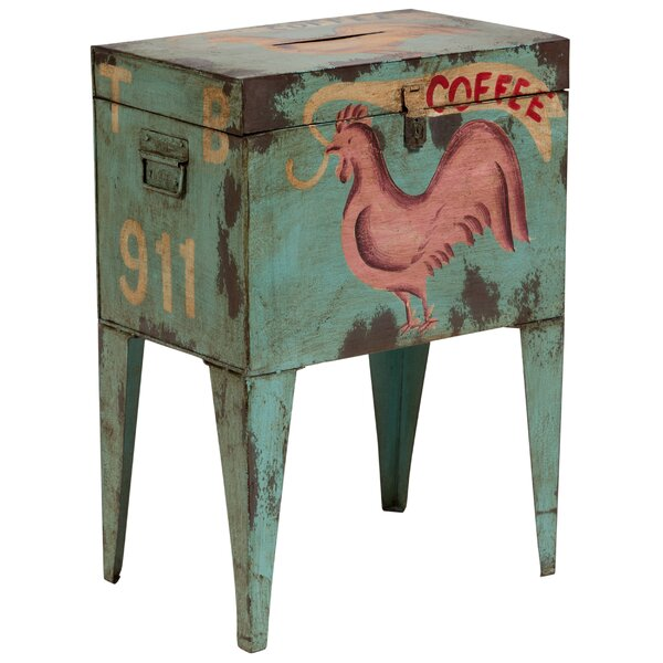 East Rolstone Rooster Ballot Box End Table by August Grove