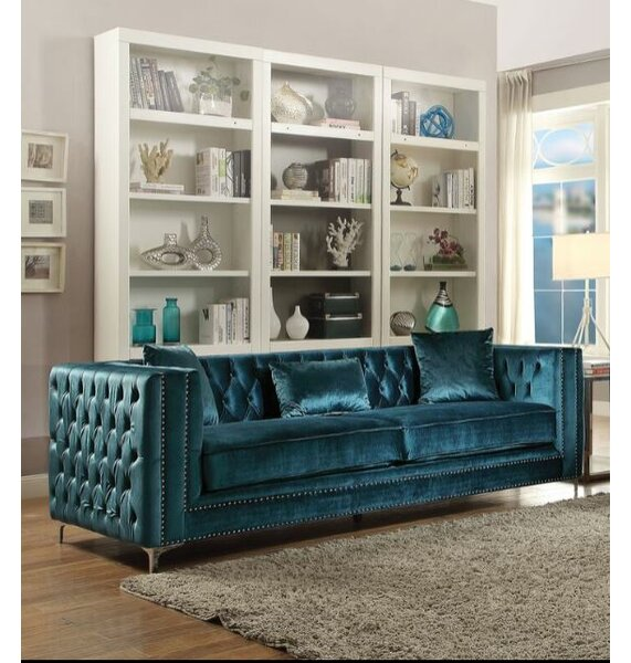 Find Out The Latest Kingsley Tufted Sofa by Everly Quinn by Everly Quinn